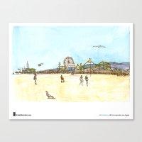"""Shiho Nakaza, """"Beach, Santa Monica"""" Canvas Print"""