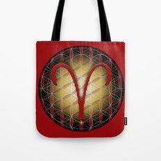 Flower of Life ARIES Astrology Design Tote Bag
