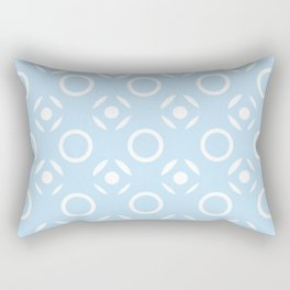 Tic Tac Toe in Blue Rectangular Pillow