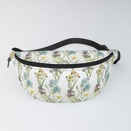 Vintage Floral Pattern | No. 2B | Iris Flowers | Irises Fanny Pack
