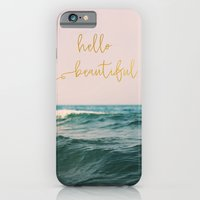 Hello Beautiful (Pink Waves) iPhone 6s Slim Case