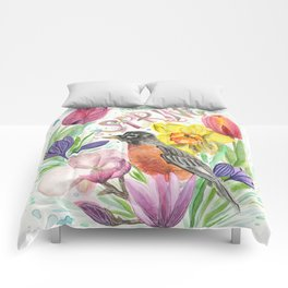 Welcome Spring Robin Comforters