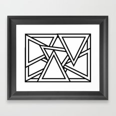 Lost in Triangularity Framed Art Print