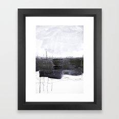 minimal landscape Framed Art Print