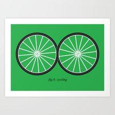 Fig.8: cycling Art Print