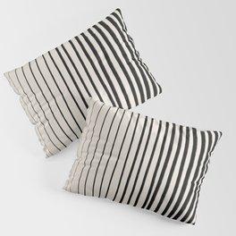 Black Vertical Lines Pillow Sham
