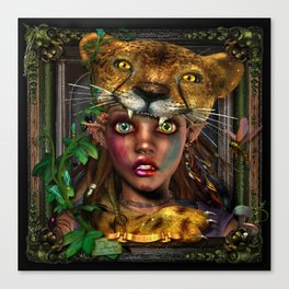 "Bernadette ""Brave As A Bear"" Canvas Print"