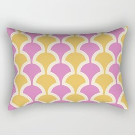 Classic Fan or Scallop Pattern 435 Yellow and Pink Rectangular Pillow