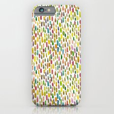 Brush stroke warm summer iPhone 6s Slim Case