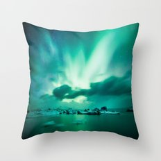 Aurora Borealis. Throw Pillow