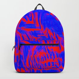 blue shards on red Backpack