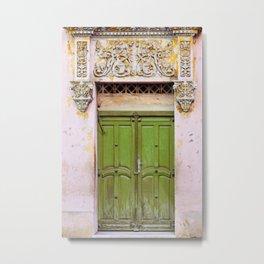 Havana Door - Cuba Travel, Architecture Photography Metal Print