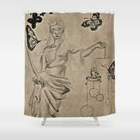 justice Shower Curtains featuring Justice by Maithili Jha