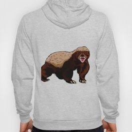Honey badger illustration Hoody