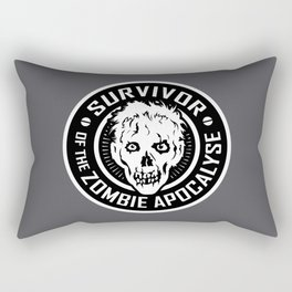 Survivor of the Zombie Apocalypse Rectangular Pillow