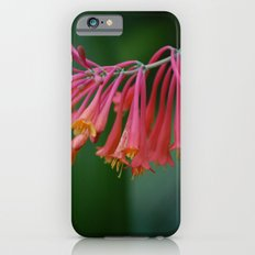 Tropical pink flowers iPhone 6s Slim Case