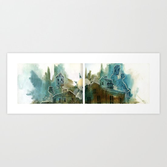 It's a normal day in the neighborhood Art Print