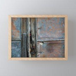 Rusty metal gate Framed Mini Art Print