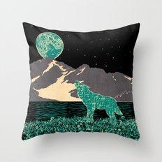 Wolf 5 Throw Pillow