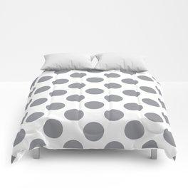 Grey Large Polka Dots Pattern Comforters