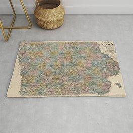 Vintage Map of Iowa (1875) Rug