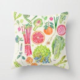 Spring Harvest - Neutral Throw Pillow