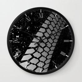 Grunge Skid Mark Wall Clock