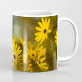 Autumn Botanical -- Painterly Sunflowers Coffee Mug