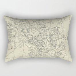 Vintage Map of Jerusalem Israel (1917) Rectangular Pillow