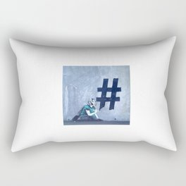 Grafitti # diese girl Rectangular Pillow