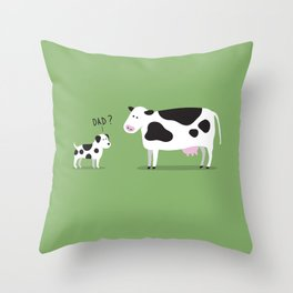Cow dad Throw Pillow