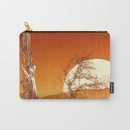 Desert Moonrise in Orange Carry-All Pouch