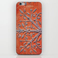 Gothic Red Door iPhone & iPod Skin