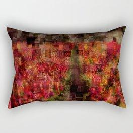 Field of Tulips Mosaic Rectangular Pillow