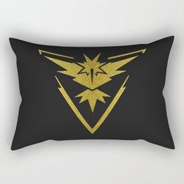 Team Instinct Sparkly yellow gold sparkles Rectangular Pillow