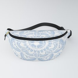 Simple White Mandala Fanny Pack