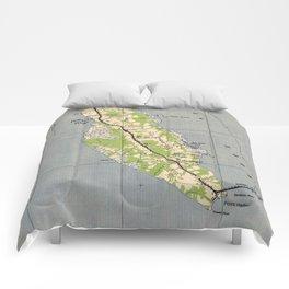 Vintage Map of Powells Point North Carolina (1940) Comforters