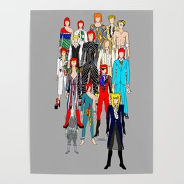 Gray Heroes Group Fashion Outfits Poster
