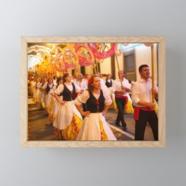 Festival in Azores islands Framed Mini Art Print