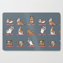English Bulldog Yoga Cutting Board