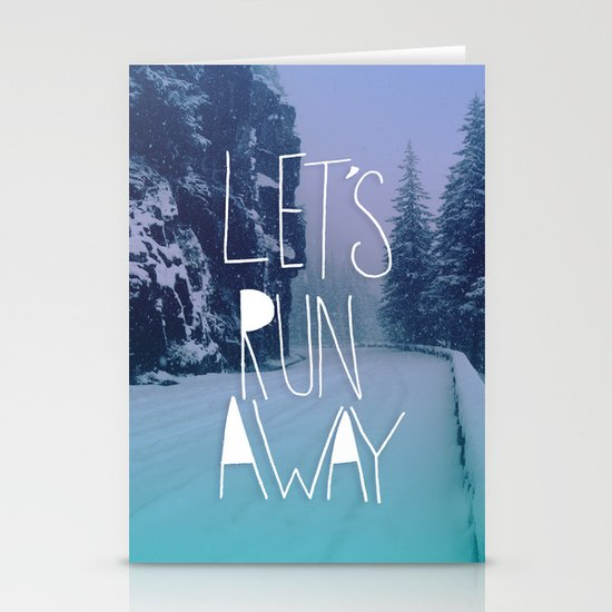 Let's Run Away: Rainier National Forest, Oregon Stationery Cards