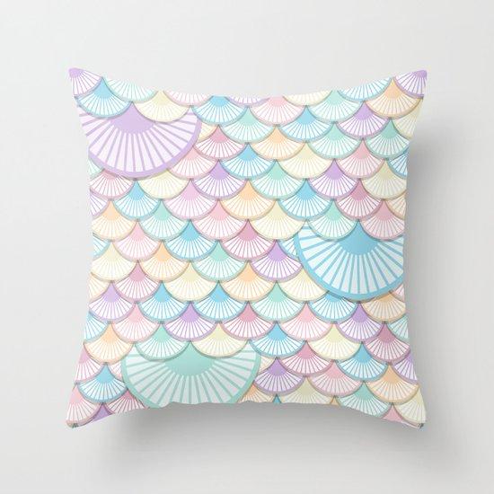 Pastel Wagon Wheels Throw Pillow