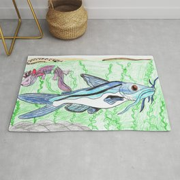 Mexican Blue Catfish Rug