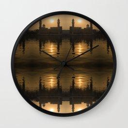 Golden Temple Sunrise Wall Clock