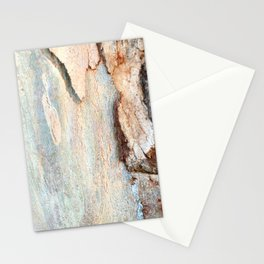 Eucalyptus tree bark and wood Stationery Cards