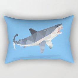 Low Poly Great White Shark Rectangular Pillow