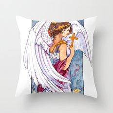 Giovanna - Art Nouveau Angel Throw Pillow
