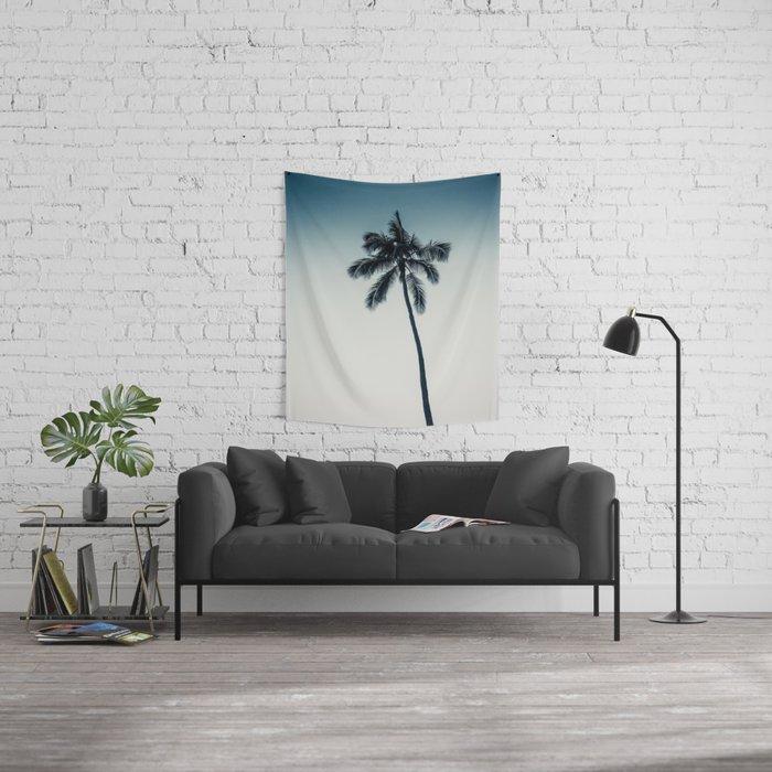palm tree ver.darkgreen Wall Tapestry