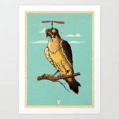 Making fun of the falcon Art Print