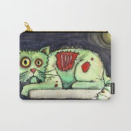 zombie cat on the wall Carry-All Pouch
